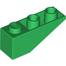 LEGO Green Slope 1 x 3 (25°) Inverted (4287)