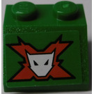 LEGO Green Slope 2 x 2 (45°) with World Racers Team Extreme Logo Sticker