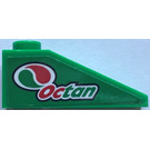"LEGO Green Slope 25° (33) 1 x 3 with ""Octan"" and Logo - Left Sticker"