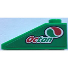 "LEGO Green Slope 25° (33) 1 x 3 with ""Octan"" and Logo - Right Sticker"