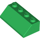 LEGO Green Slope 45° 2 x 4 with Rough Surface (3037)