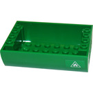 LEGO Green Slope 6 x 8 x 2 Curved Inverted Double with Sticker from Set 60016