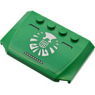 LEGO Green Wedge 4 x 6 Curved with S.H.I.E.L.D. Logo Sticker