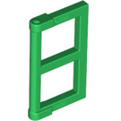 LEGO Green Window 1 x 2 x 3 Pane with Thick Corner Tabs (28961 / 60608)