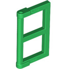 LEGO Green Window 1 x 2 x 3 Pane with Thick Corner Tabs (60608)