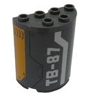 LEGO Half Cylinder 2 x 4 x 4 with 'TB-87' Sticker (6218)