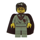 LEGO Harry Potter with Gryfindor Shield Torso, Light Gray Legs, and a Black Cape with Stars Minifigure