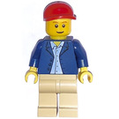 LEGO Harvester Driver Minifigure with Short Cap