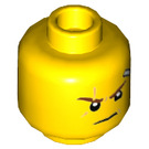 LEGO Head with Scar and Bandage, Stud Recessed (Recessed Solid Stud) (3626 / 33812)