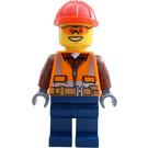 LEGO Heavy-Haul Train Construction Worker Minifigure