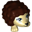 LEGO Hedgehog with Dark Brown Spikes (12878 / 19987)