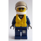 LEGO Helicopter Pilot with Helmet and Life Jacket Minifigure