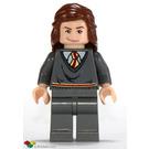 LEGO Hermione Granger in Dark Stone Gray Gryffindor uniform Minifigure