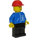 LEGO Highway worker with black legs and red construction helmet Minifigure
