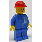 LEGO Highway worker with blue legs and red construction helmet Minifigure