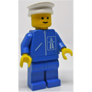 LEGO Highway worker with blue legs and white hat Minifigure