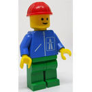 LEGO Highway worker with green legs and red construction helmet Minifigure