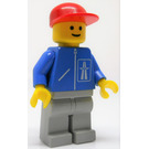 LEGO Highway Worker with Red Cap and Light Gray Legs Minifigure