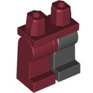 LEGO Hips with Black Left Leg and Dark Red Right Leg (73200)
