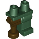 LEGO Hips with Dark Green Left Leg and Dark Brown Peg Leg (84637)