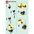 LEGO Hockey Headshox Set 5017 Instructions