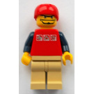 LEGO Hockey Player, Red Sportshelmet, Tan Legs Minifigure