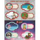 LEGO Holiday Gift Tag Stickers (2018)