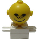 LEGO Homemaker Figure with Yellow Head and Freckles
