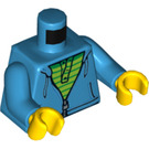 LEGO Hoodie with Bright Green Striped Shirt Torso (973 / 76382)