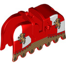 LEGO Horse Barding with Gold Lions, Red and White Checkered (2490 / 91657)