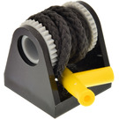 LEGO Hose Reel 2 x 2 Holder with String and Yellow Hose Nozzle (2584)