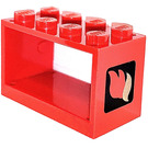 LEGO Hose Reel 2 x 4 x 2 Holder with Fire Logo (4209)
