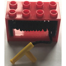 LEGO Hose Reel 2 x 4 x 2 Holder with Yellow Nozzle (4209)