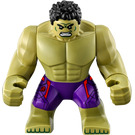 LEGO Hulk - Dark purple pants with dark red  pattern Minifigure
