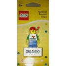 LEGO I (love) Orlando figure magnet (850501)