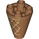 LEGO Ice Cream Cone Cone 2 x 2 x 2 Inverted (52116)