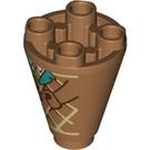LEGO Ice Cream Cone Cone 2 x 2 x 2 Inverted (59438)