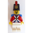 LEGO Imperial Soldier with Decorated Shako Hat and Black Goatee Beard Minifigure