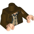 LEGO Indiana Jones Torso with Jacket over Rumpled Tan Shirt (76382)