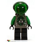 LEGO Insectoids Villian with Airtanks Minifigure head with Green Hair and Copper Eyepiece