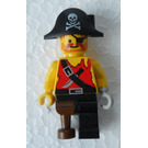LEGO Islander Pirate with Bicorne with White Skull and Bones Minifigure