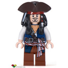 LEGO Jack Sparrow with Tricorne and Blue Vest Minifigure
