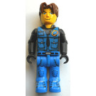 LEGO Jack Stone with Black Jacket, Blue Legs and Blue Vest Minifigure