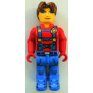 LEGO Jack Stone with Red Jacket, Blue Overalls and Blue Legs Minifigure