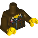 LEGO Jake Raines Minifig Torso with Aviator Jacket (76382 / 88585)
