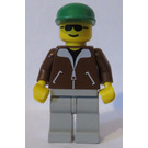 LEGO Jeep Driver, Brown Jacket Minifigure
