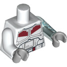 LEGO Jek Torso with Red and Black Armor Pattern and Transparent Light Blue Left Arm (15222 / 88585)