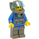 LEGO Jet with Transparent Light Blue Visor Minifigure