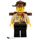 LEGO Johnny Thunder (desert) with Openable Backpack Minifigure