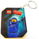LEGO Keychain with Lenticular Benny Design / Good Cop - Bad Cop on reverse